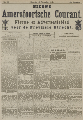 Nieuwe Amersfoortsche Courant 1917-11-17