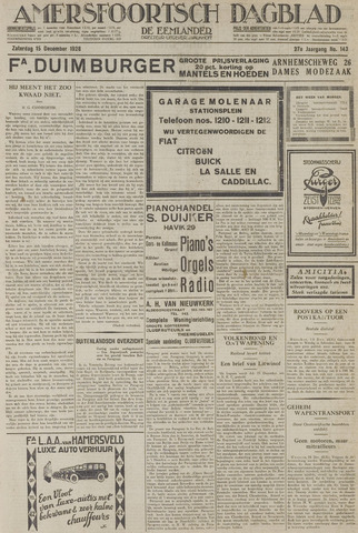 Amersfoortsch Dagblad / De Eemlander 1928-12-15