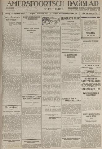 Amersfoortsch Dagblad / De Eemlander 1931-09-29