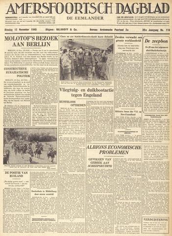 Amersfoortsch Dagblad / De Eemlander 1940-11-12