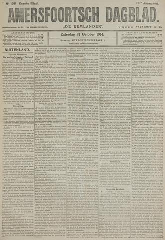 Amersfoortsch Dagblad / De Eemlander 1914-10-31