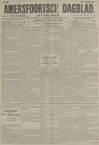Amersfoortsch Dagblad / De Eemlander 1916-11-13