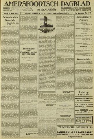 Amersfoortsch Dagblad / De Eemlander 1933-03-10