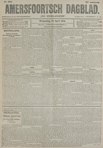 Amersfoortsch Dagblad / De Eemlander 1914-04-22