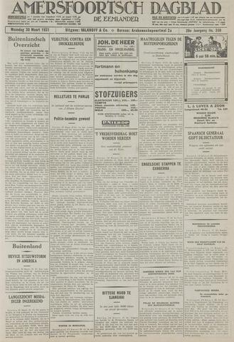 Amersfoortsch Dagblad / De Eemlander 1931-03-30
