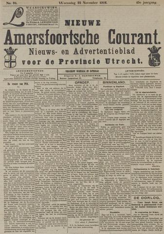 Nieuwe Amersfoortsche Courant 1916-11-22