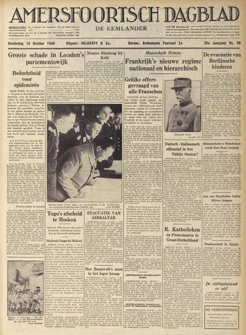 Amersfoortsch Dagblad / De Eemlander 1940-10-10