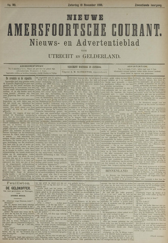 Nieuwe Amersfoortsche Courant 1888-11-10