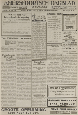 Amersfoortsch Dagblad / De Eemlander 1931-07-18