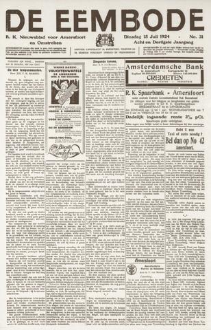 De Eembode 1924-07-15
