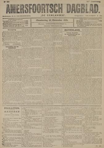 Amersfoortsch Dagblad / De Eemlander 1915-12-23