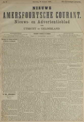 Nieuwe Amersfoortsche Courant 1894-01-20