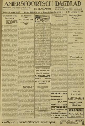 Amersfoortsch Dagblad / De Eemlander 1933-02-21