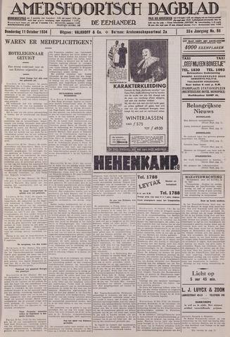 Amersfoortsch Dagblad / De Eemlander 1934-10-11