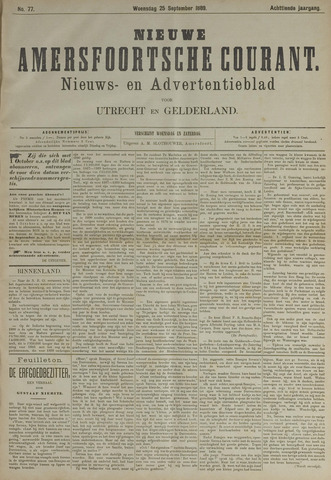 Nieuwe Amersfoortsche Courant 1889-09-25