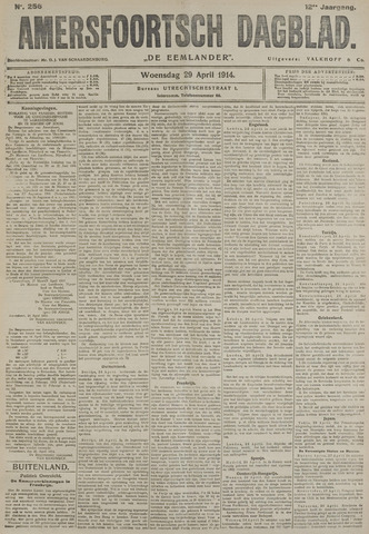 Amersfoortsch Dagblad / De Eemlander 1914-04-29