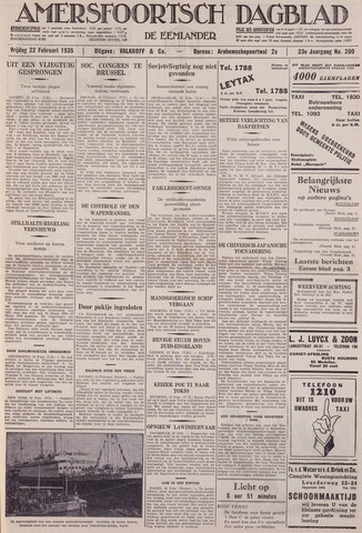 Amersfoortsch Dagblad / De Eemlander 1935-02-22