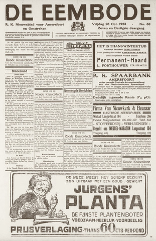 De Eembode 1923-10-26