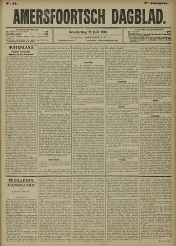 Amersfoortsch Dagblad 1910-07-21