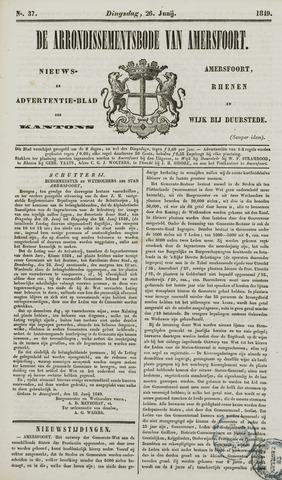 Arrondissementsbode van Amersfoort 1849-06-26