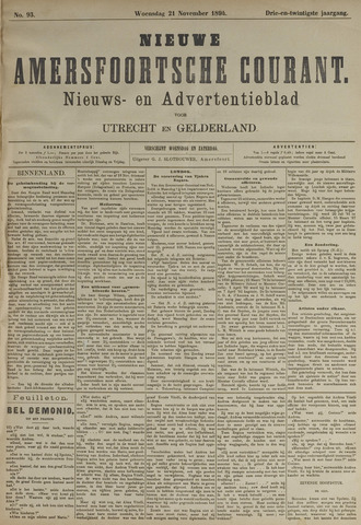 Nieuwe Amersfoortsche Courant 1894-11-21