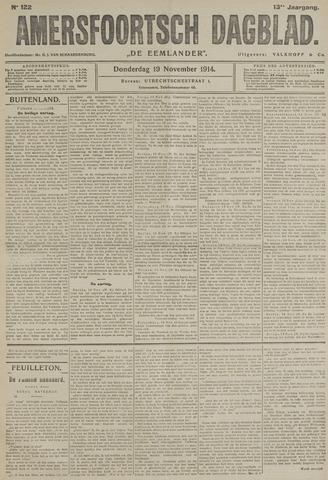 Amersfoortsch Dagblad / De Eemlander 1914-11-19