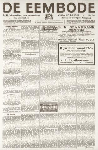 De Eembode 1923-07-27