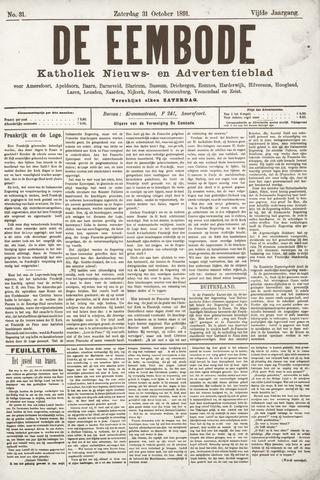 De Eembode 1891-10-31