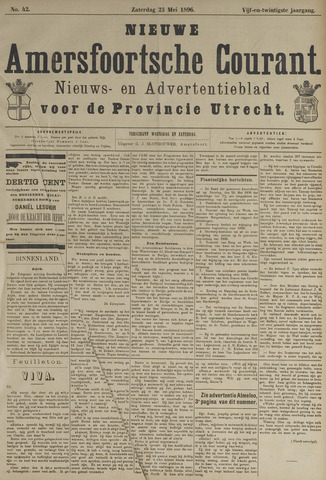 Nieuwe Amersfoortsche Courant 1896-05-23