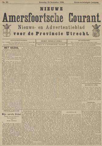 Nieuwe Amersfoortsche Courant 1898-11-19