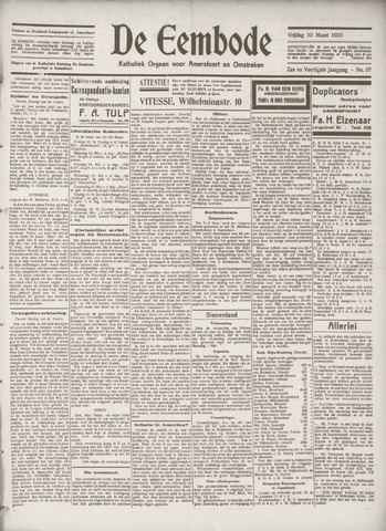 De Eembode 1933-03-10