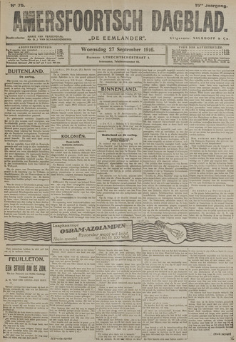 Amersfoortsch Dagblad / De Eemlander 1916-09-27