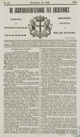 Arrondissementsbode van Amersfoort 1849-07-24