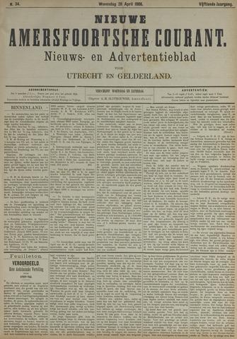 Nieuwe Amersfoortsche Courant 1886-04-26
