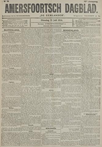 Amersfoortsch Dagblad / De Eemlander 1914-07-21