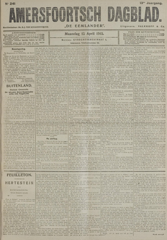 Amersfoortsch Dagblad / De Eemlander 1915-04-12