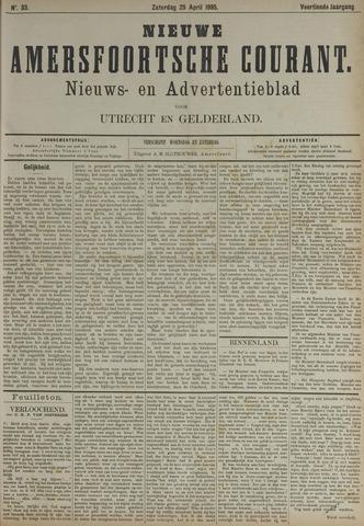 Nieuwe Amersfoortsche Courant 1885-04-25