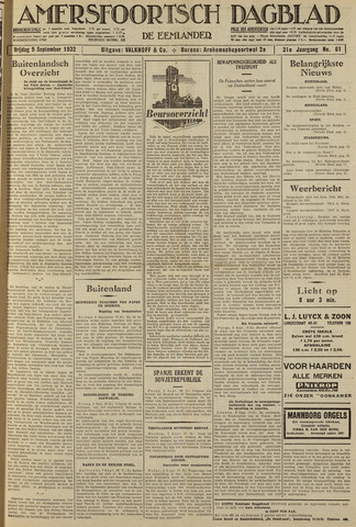 Amersfoortsch Dagblad / De Eemlander 1932-09-09