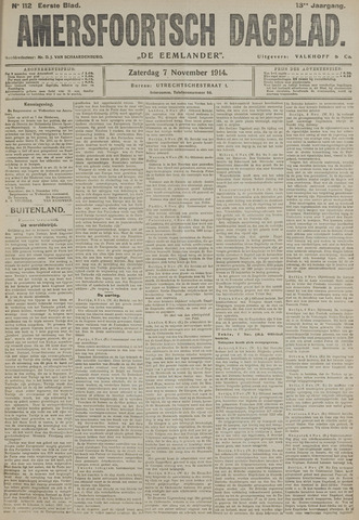 Amersfoortsch Dagblad / De Eemlander 1914-11-07