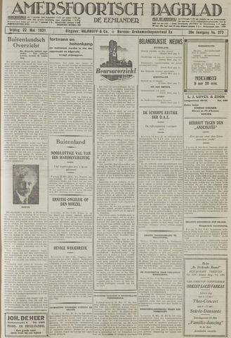 Amersfoortsch Dagblad / De Eemlander 1931-05-22