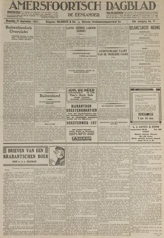 Amersfoortsch Dagblad / De Eemlander 1931-09-21