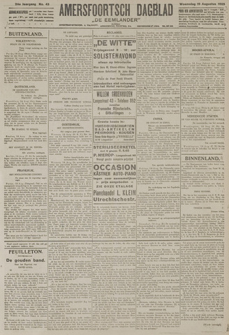 Amersfoortsch Dagblad / De Eemlander 1925-08-19