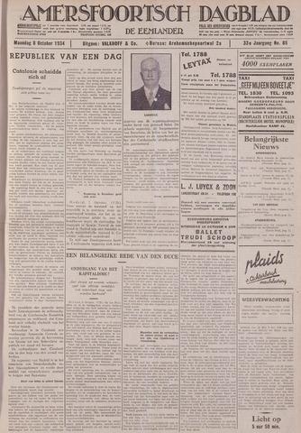 Amersfoortsch Dagblad / De Eemlander 1934-10-08