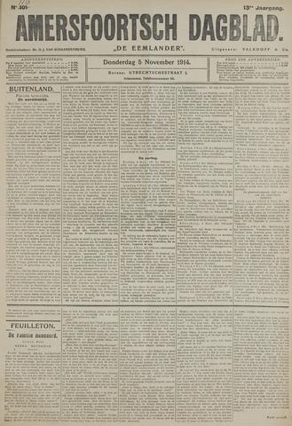 Amersfoortsch Dagblad / De Eemlander 1914-11-05