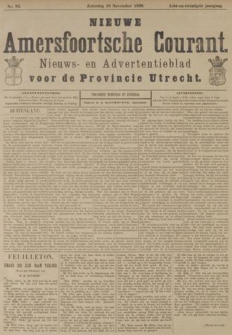 Nieuwe Amersfoortsche Courant 1899-11-18