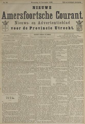Nieuwe Amersfoortsche Courant 1896-11-11