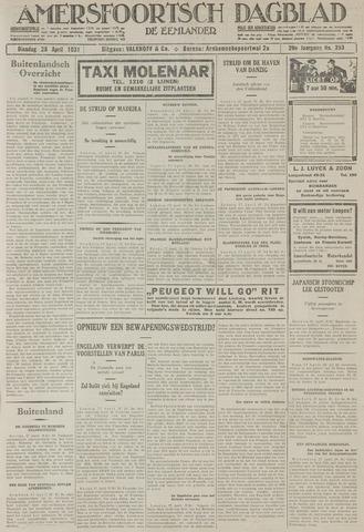 Amersfoortsch Dagblad / De Eemlander 1931-04-28