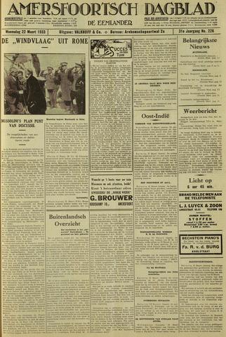 Amersfoortsch Dagblad / De Eemlander 1933-03-22