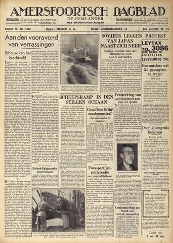 Amersfoortsch Dagblad / De Eemlander 1939-07-18