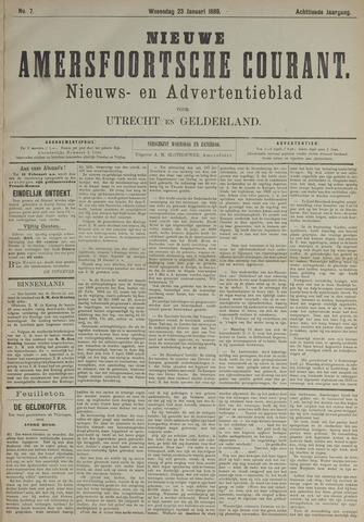 Nieuwe Amersfoortsche Courant 1889-01-23